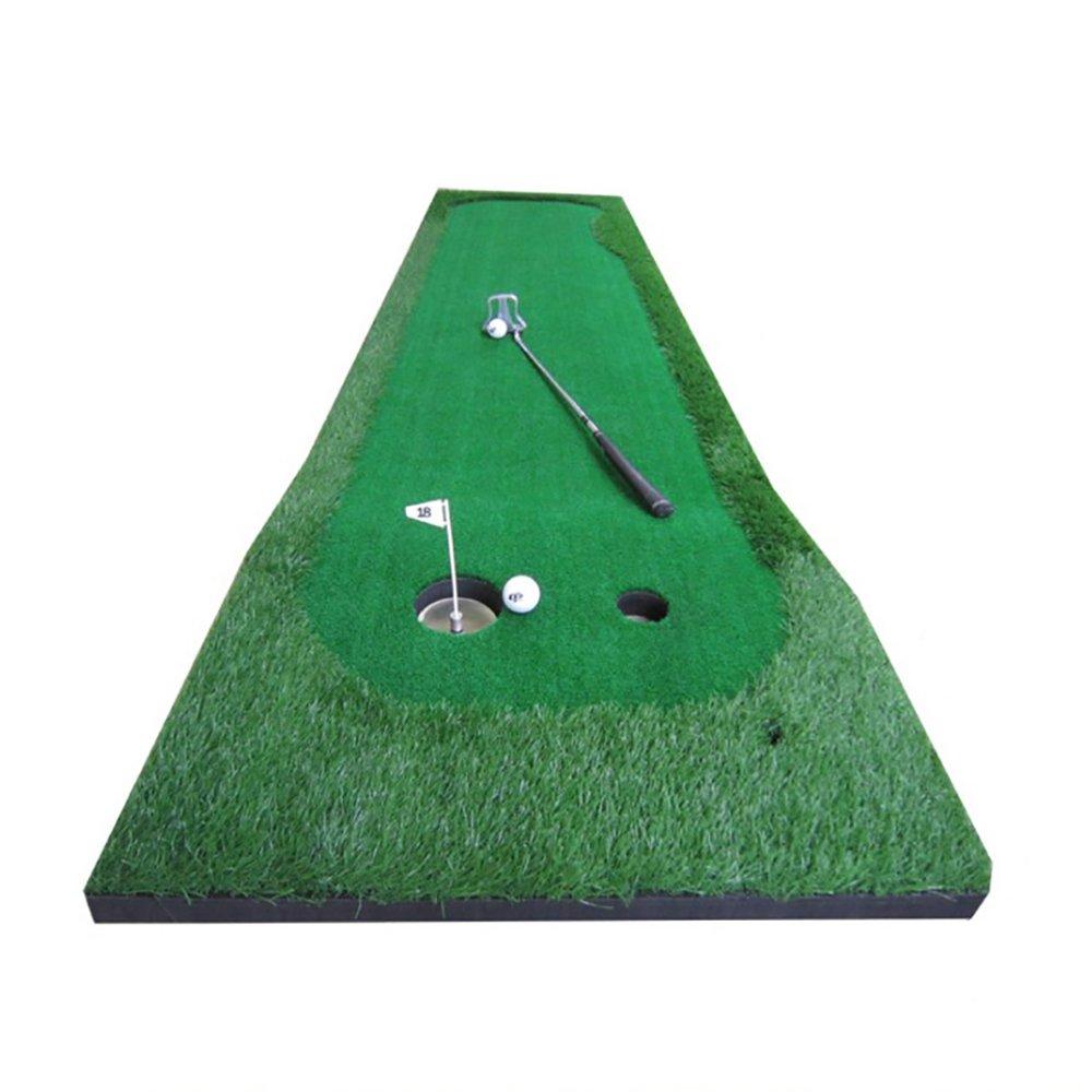 室内ゴルフパットエクササイザホームミニゴルフポータブルゴルフドライビングマット - 50 * 300cm