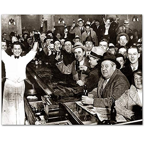 The Night Prohibition Ended - 11x14 Unframed Art Print - Great Man Cave and Bar Decor from Personalized Signs by Lone Star Art