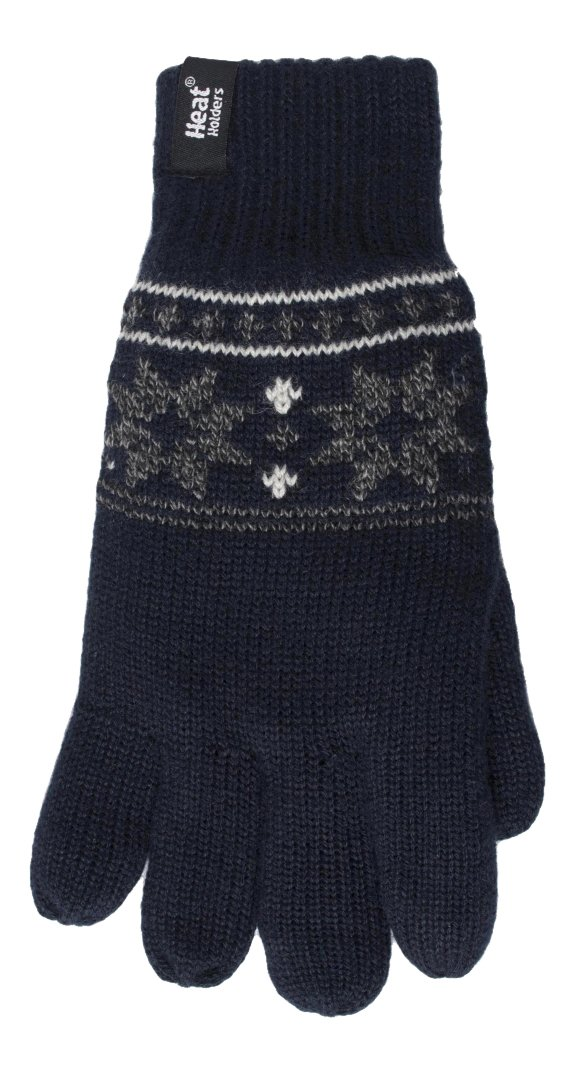 Heat Holders - Mens Thermal Fleece Knitted 2.3 Tog Winter Gloves (L/XL, Navy) HH