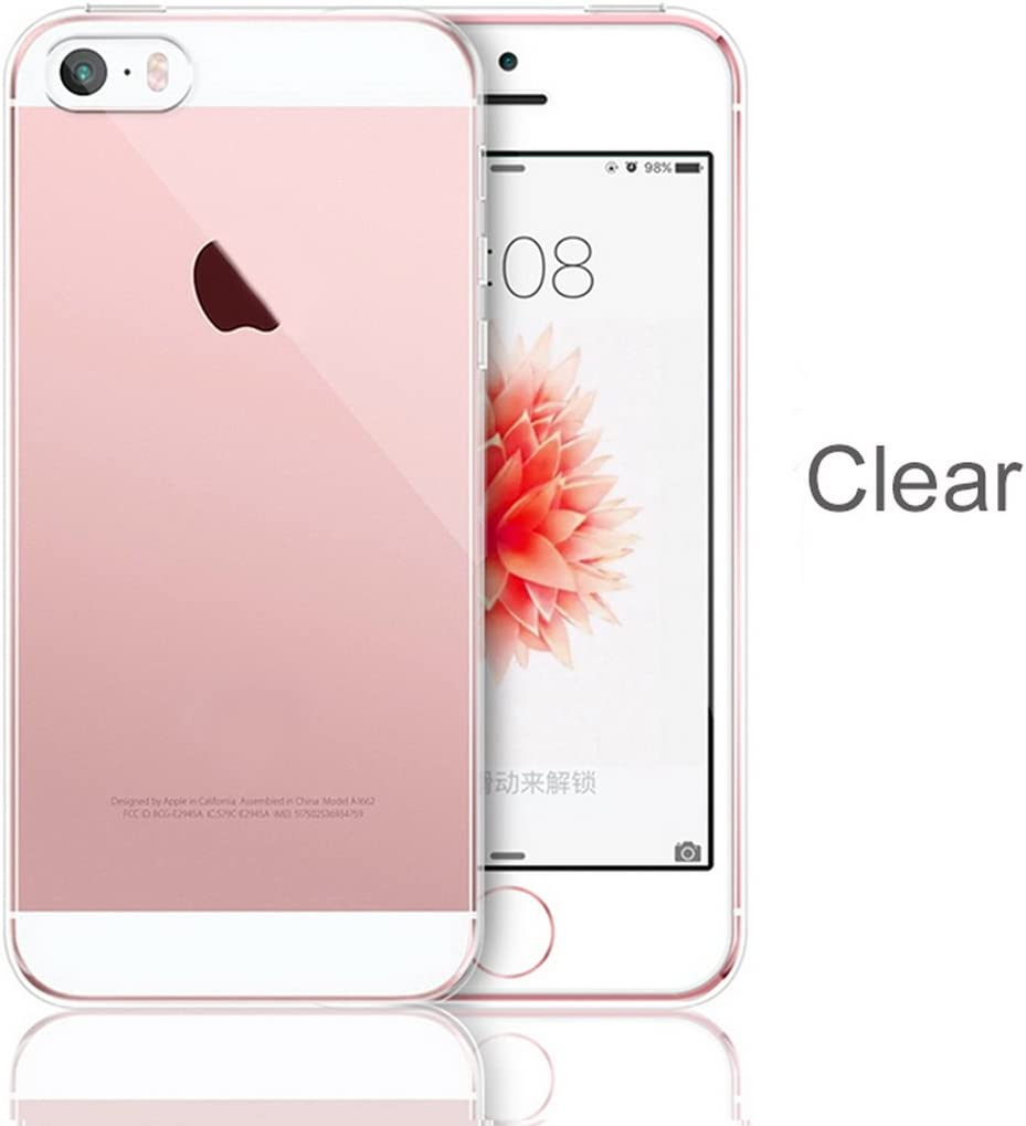 Amazon Com Iphone 5 5s Se For Iphone 5 5s Se Slim Soft Crystal Clear Transparent Tpu Silicone Cover Fundas Coque Case Cover 4 0 Inch