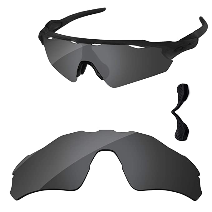 4f687fd0709 PapaViva Lenses Replacement   Nose Pad for Oakley Radar EV Path Black Grey