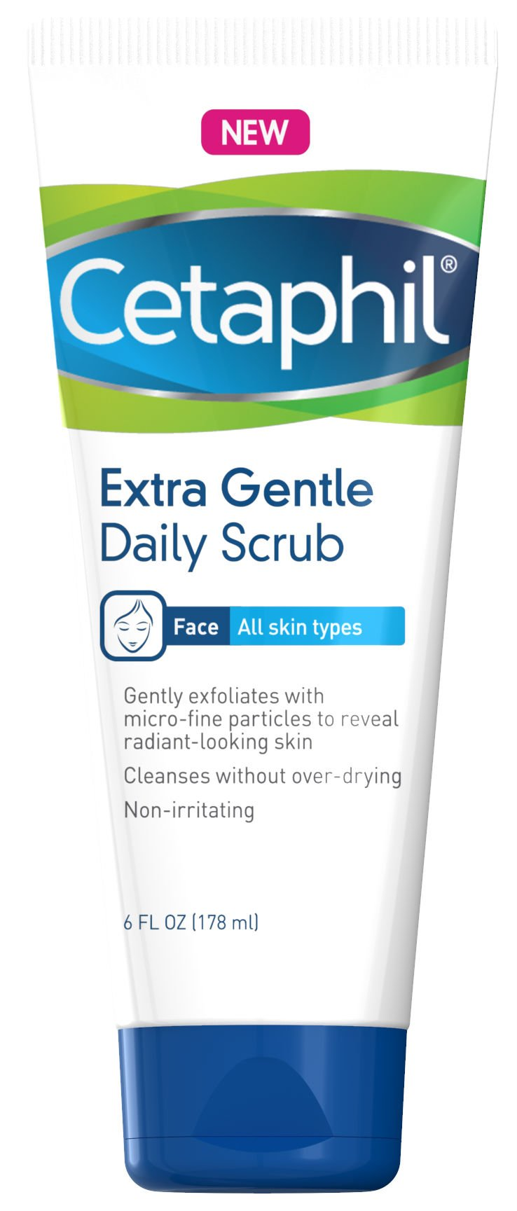 Cetáphil Extra Gentle Daily Scrub (Pack of 2) – Gently Exfoliates & Cleanses Without Over-Drying – for All Skin Types – Non-Irritating & Hypoallergenic – Suitable for Sensitive Skin 6 oz