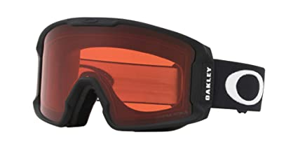 25ded9fdea Image Unavailable. Image not available for. Color  Oakley Line Miner Adult  Snowmobile Goggles - Matte Black Prizm Rose Medium