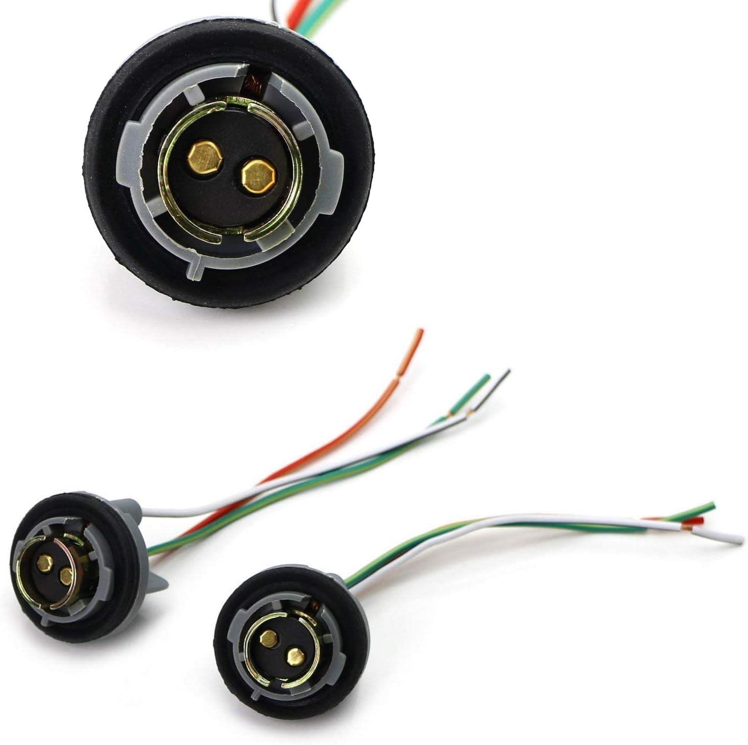 [SCHEMATICS_4PO]  Amazon.com: iJDMTOY (2) 1157 2057 2357 7528 Metal Socket/Base w/ Pigtail Wiring  Harness Compatible With Turn Signal, Brake/Tail Lights or LED Bulbs  Retrofit, etc: Automotive | Light Bulb Socket Wiring Diagram Us |  | Amazon.com