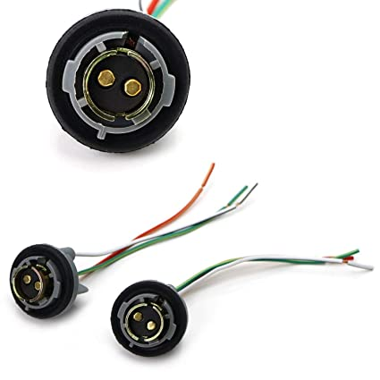 amazon com: ijdmtoy (2) 1157 2057 2357 7528 metal socket/base w/pigtail  wiring harness for turn signal, brake/tail lights or led bulbs retrofit,