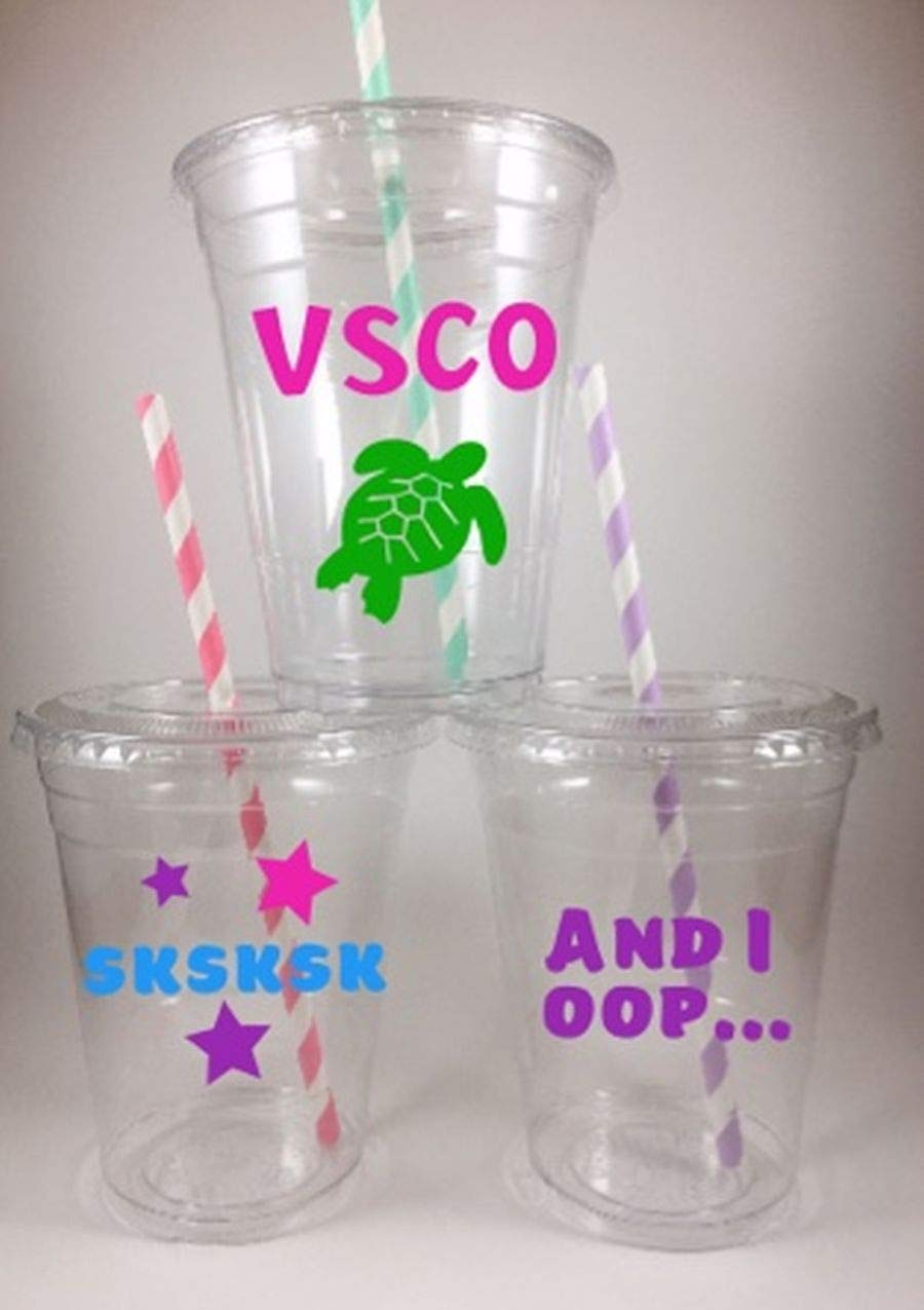 Space Birthday Party Cups Set of 12 Disposable Lids Straws
