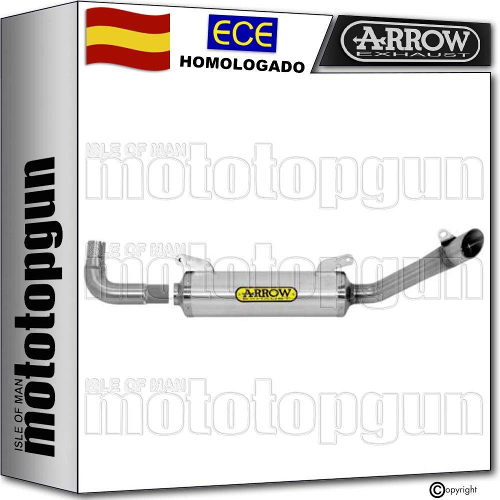 ARROW TUBO DE ESCAPE HOMOLOGADO THUNDER CON FONDO INOX EN ALUMINIO NEGRO COMPATIBLE CON DERBI GPR 125 4T 2010 10 2011 11 2012 12 51505AON