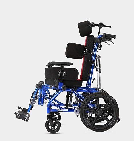 DPPAN Drive Medical Transport Silla de ruedas Plegable ligero para niños, reposapiés elevadores de aleación de aluminio para transferencias fáciles,18