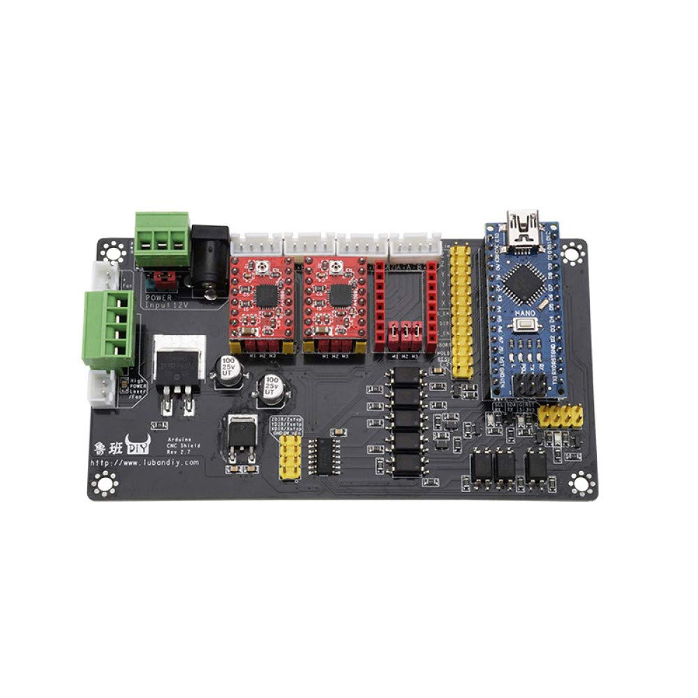 juler Machine de Gravure USB Tableau de Commande de Moteur Pas à Pas Multi-Axes Machine de Gravure Ensemble de système de contrôle CNC,Noir,Taille Unique