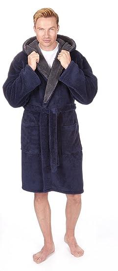 HOMME DE LUXE blottir en polaire à Capuche Robe de chambre (tailles m-2xl 48df9c8baf0f