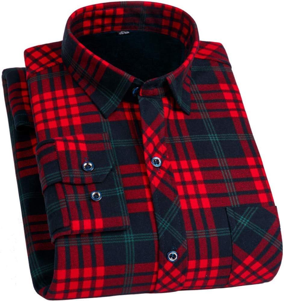 Caliente del invierno camisa de manga larga para los hombres, algodón acolchado camisa de leñador a cuadros de manga larga, adecuados para otoño e invierno gruesas camisas de trabajo a cuadros: Amazon.es: