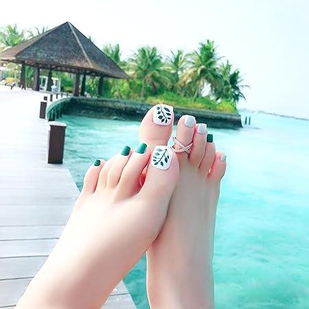 Amazon.com: 24Pcs Foot False Nail Tips Cute Fake Toes Nails Toe Art Tool Women Summer Gift: Beauty