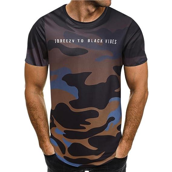 Camisetas Moda Hombre Camiseta Manga Corta Camuflaje Hombre AIMEE7 Camisas De Hombre De Verano Camisetas Hombre