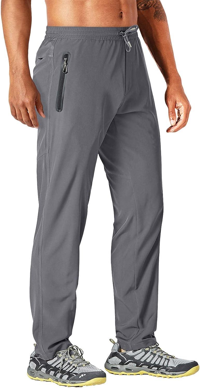 Ligeros MAGCOMSEN Pantalones de Trabajo para Hombre el/ásticos de Secado r/ápido con Bolsillos con Cremallera Transpirables