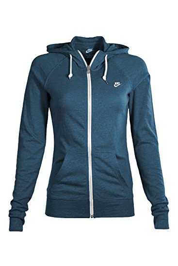 Amazon.com  Nike Womens Sport Casual Zip Up Hoodie (Blue) (X-Large ... 5e6ddc4af