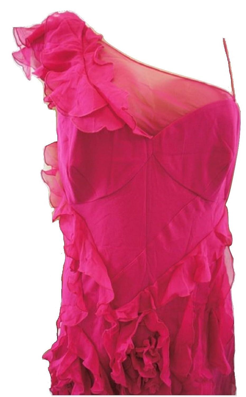 Karen MillenDamen Kleid, Einfarbig Rosa Fuchsia Pink