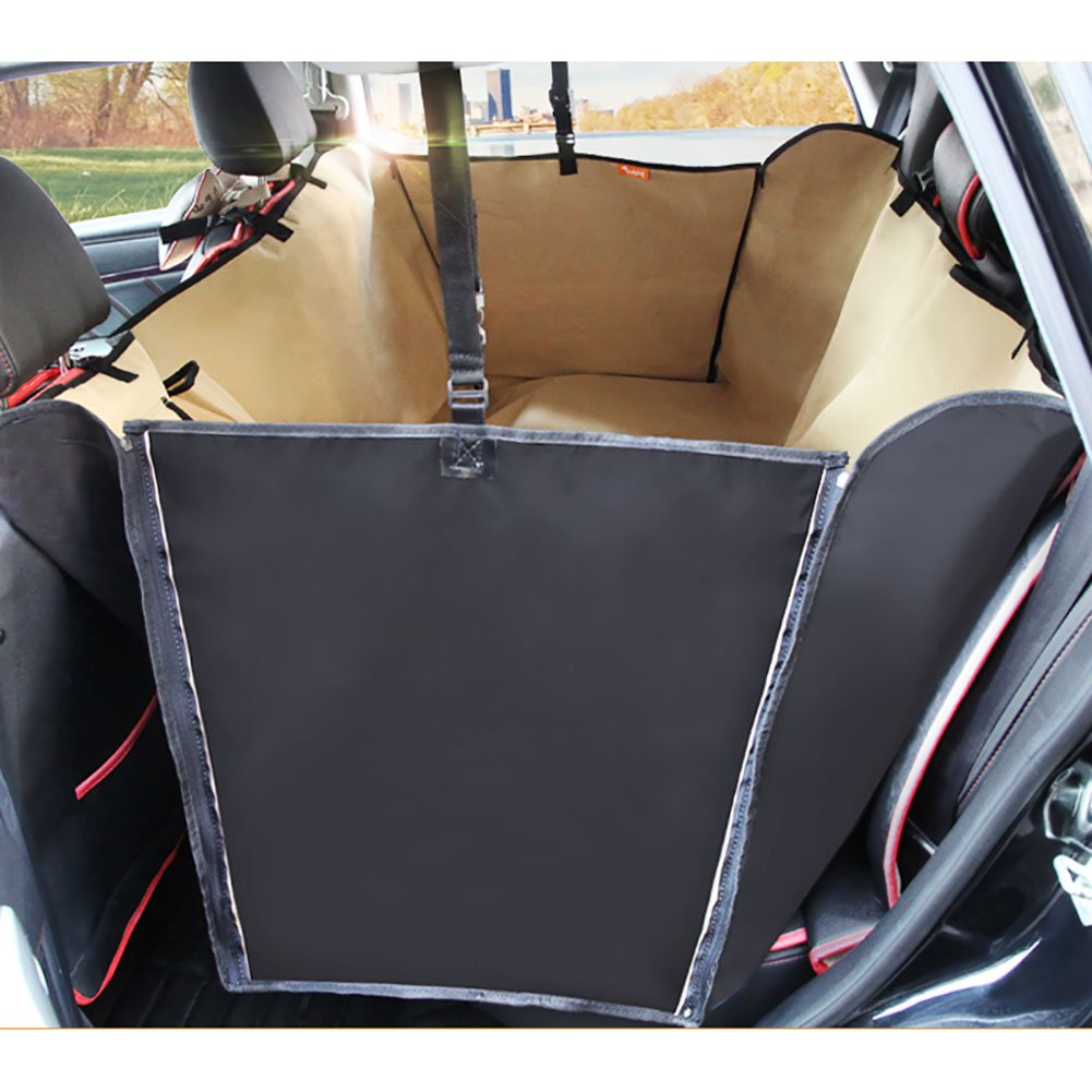 Beige ExtendedPet Back Seat Cover For Cars Rear Seat Safety Seats Dog Car Seat Cushion AntiDirty AntiScratch Seat Cushion,Beige,Universal