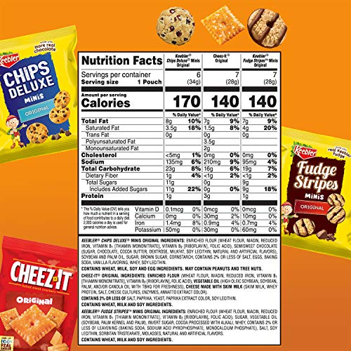 Keebler Variety Packs , Cookies and Crackers, Variety Pack, On-the-Go, Pack of 20 Bags, 21.2 Ounce, Basic
