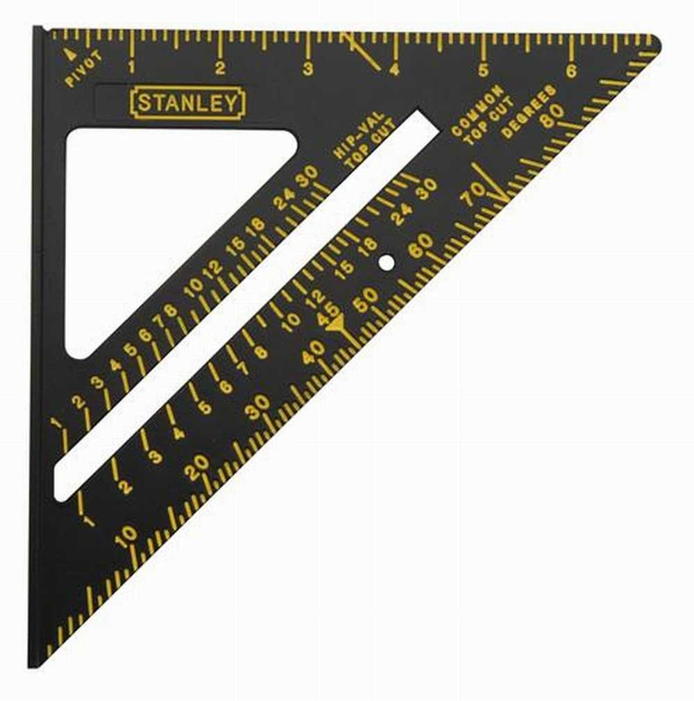 Stanley 46-071 7'' Premium Quick Square Layout Tool, Black - 3 Pack