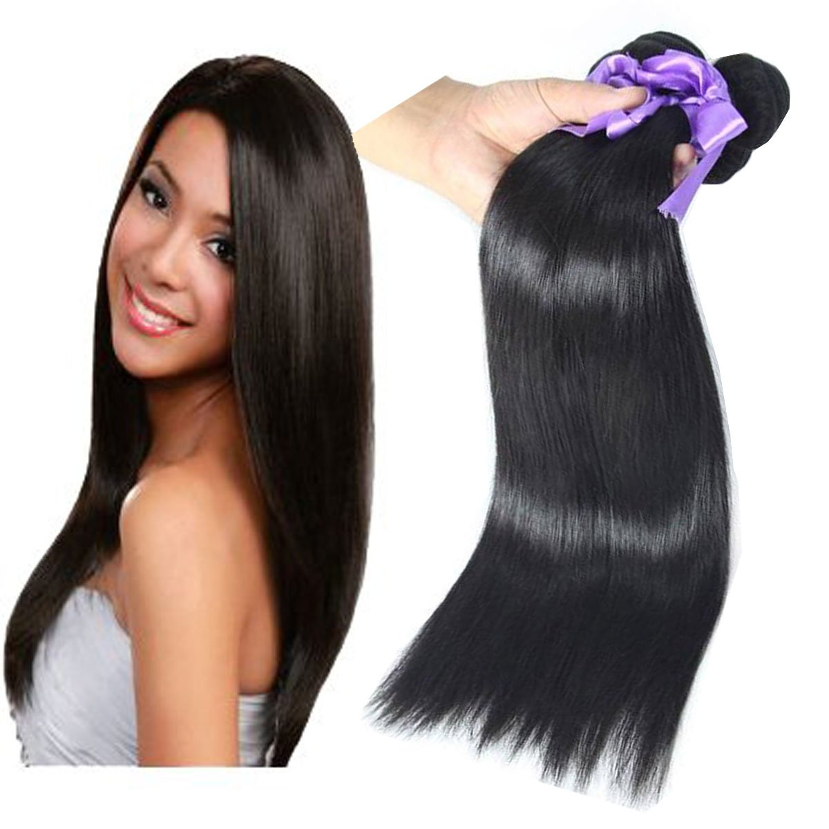 Amazon Best Buy Box Raw Real Human Remy Hair Extensions