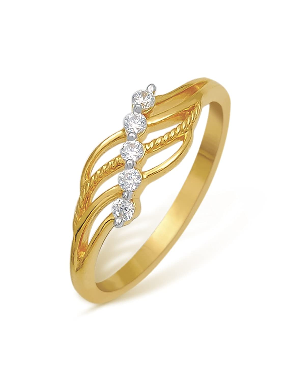Buy Nishtaa Contemporary 22K Yellow Gold Ring Online at Low Prices ...