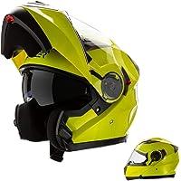 CRUIZER–casco Modular homologado para moto Amarillo Alta visibilidad