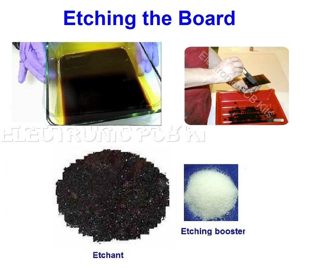 Pcb Fabrication Kit Type D Make Printed Circuit Board Etching Boards At Home Electronics Epk013 Toys Games