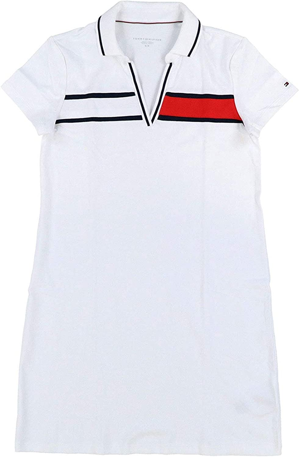Tommy Hilfiger Womens Tina Ribbon Logo Polo Dress