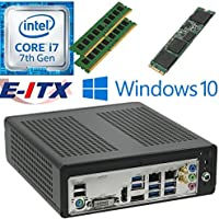 E-ITX ITX350 Asrock H270M-ITX-AC Intel Core i7-7700 (Kaby Lake) Mini-ITX System , 32GB Dual Channel DDR4, 480GB M.2 SSD, WiFi, Bluetooth, Window 10 Pro Installed & Configured by E-ITX