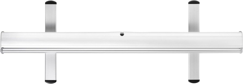 80 x 200 cm MultiBrands/® Rollup Display Budget JETZT SELBST GESTALTEN Farbe: Silber mit eigenem Wunschmotiv problemlos online editiert ohne Umwege individuell Bedruckt
