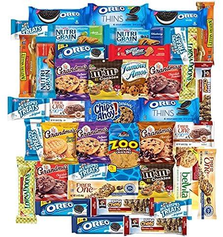 Sweet Cookies, Bars, Crackers & Snacks Care Package Variety Pack Includes Oreos, Grandmas, m&m Cookie, Quaker Chewy, Nutri Grain, Fiber One Brownie, Rice Krispies & More (40 - Mens Sprint Walker
