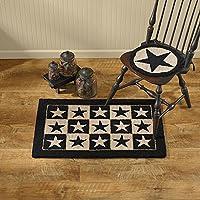 Park Designs Black Star Hooked Rug, 24 x 36