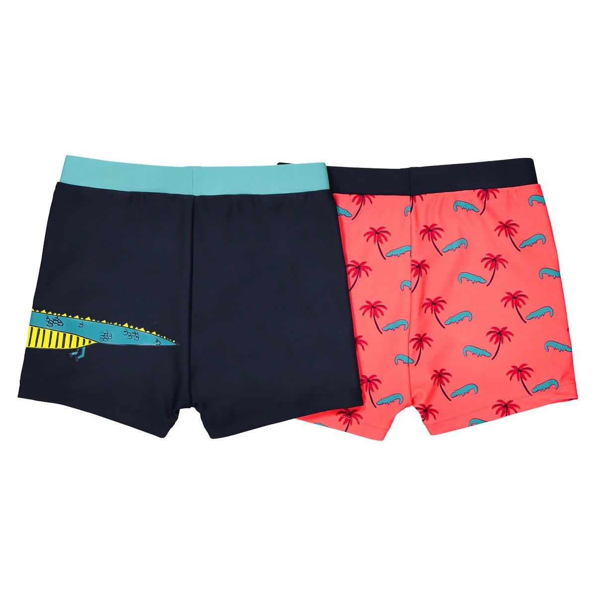 La Redoute Collections Big Boys Pack of 2 Printed Swim Shorts