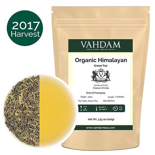 102 opinioni per Tè verde biologico in foglie dall'Himalaya (50 tazze), tè verde disintossicante