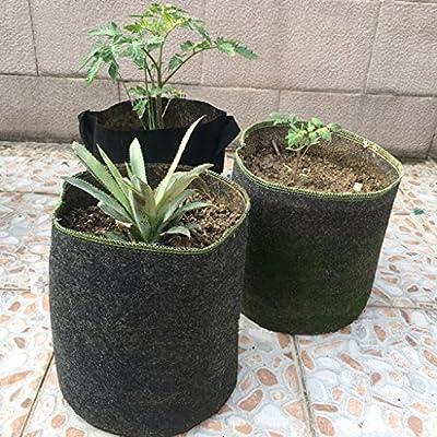 anglelu 1/5/10 PC bolsa de tela no tejida plantas raíz contenedor ...