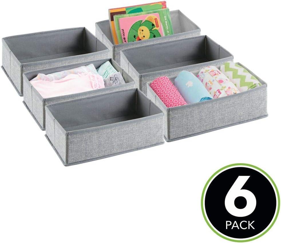 Amazon Com Mdesign Soft Fabric Dresser Drawer And Closet Storage