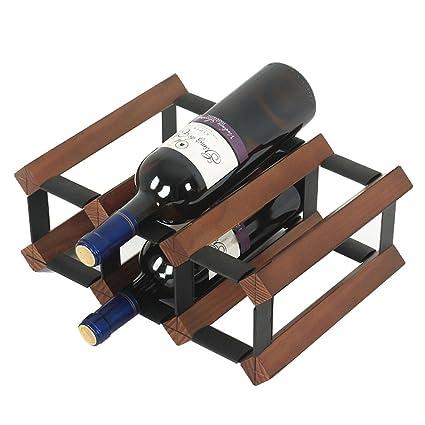 Amazon.com: Wine Racks Wall-Mounted Home Wood Decoration Creative ...