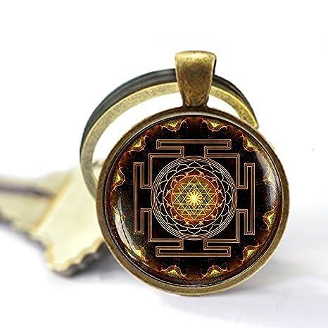 Sri yantra pendant, Sacred geometry jewelry, Sri yantra jewelry, Jewelry  for men, necklace for men, Sri yantra necklace, Buddhist keychain