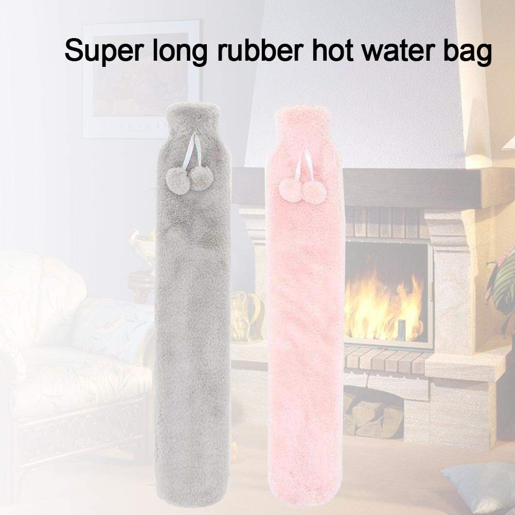 Depruies Long Hot Water Bottle Rubber Bottle with Knitted Cover Hot//Cold Therapy Ideal for Quick Pain Relieve and Comfort