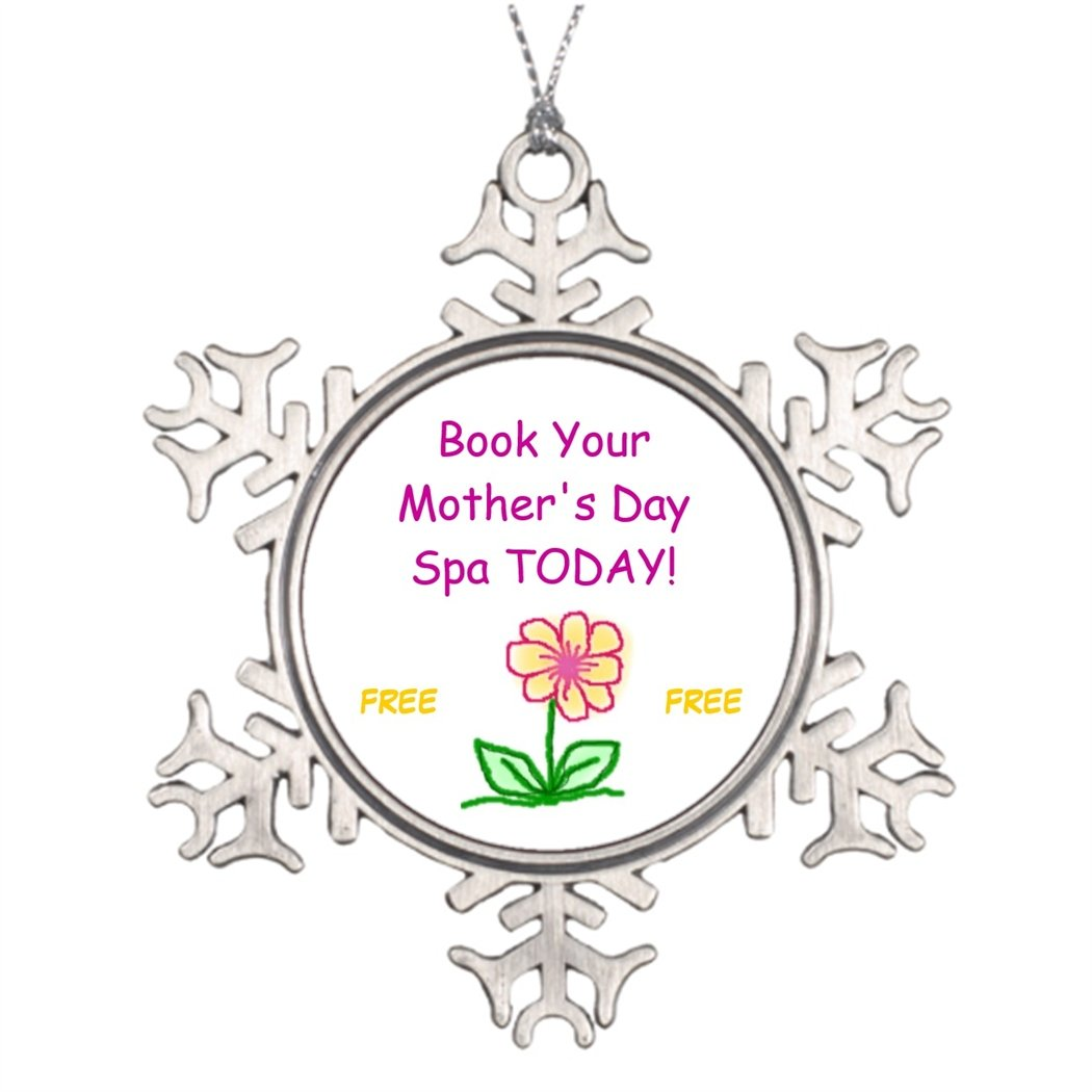 dokky J Personalised Christmas Tree Decoration flower Book Your Mother's Day Spa TODAY! FREE... Photo Snowflake Ornaments