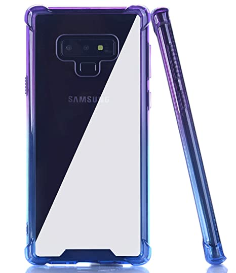 best cheap 19143 abd5e BAISRKE Galaxy Note 9 Case, Shock Absorption Flexible TPU Soft Edge Bumper  Anti-Scratch Rigid Slim Protective Cases Hard Plastic Back Cover for ...