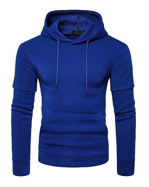 PengGeng Hombre Pullover Sudaderas con Capucha Mangas Largas Sweatshirt Encapuchado Moda Basicas Casual Tops: Amazon.es: Ropa y accesorios