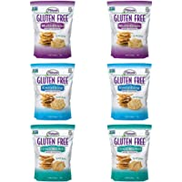 Milton's Gluten Free Crackers Bundle. Three Flavor Variety Gluten-Free Baked Crackers (3 Double Packs, 4.5 ounces each).