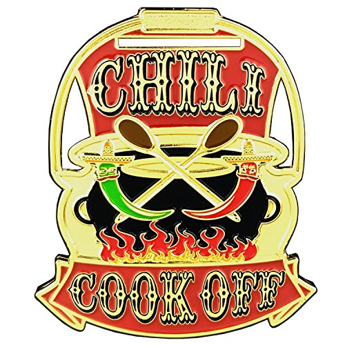Chili Cook Off Trophy Award Medal for First Place Gold Position