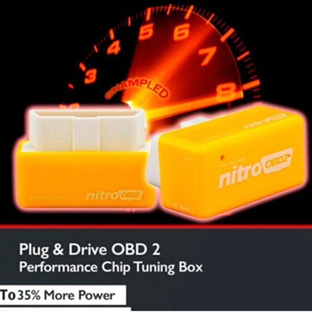 OPSLEA OBD2 Plug And Drive Chip Tuning Box per Benzina Benzene Benzina Auto Potenza di Coppia ottimizzazione del Carburante