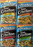 Starkist Tuna Creations - Variety Pack; Hickory Smoked, Herb & Garlic, Lemon Pepper, Sweet & Spicy (Pack of 4)
