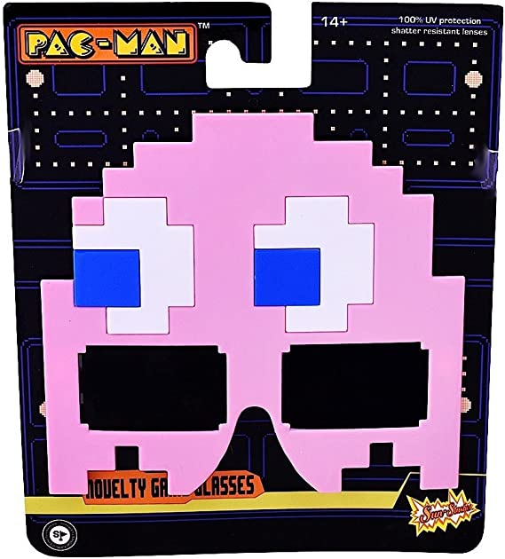 Pac-Man Pink Pinky New SG2485 Sun-Staches Party Costumes