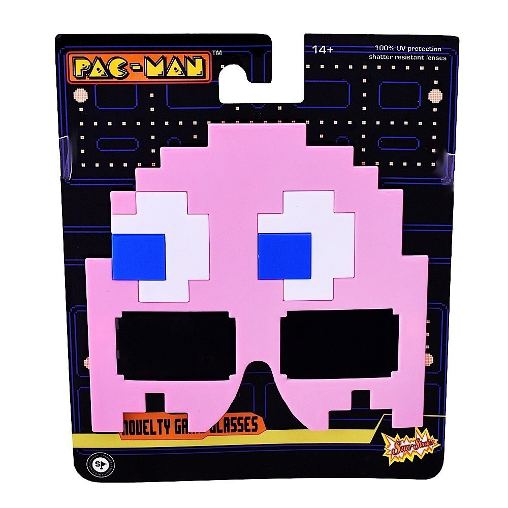 Sunstaches Pacman Pink Ghost Sunglasses Party Favors UV400
