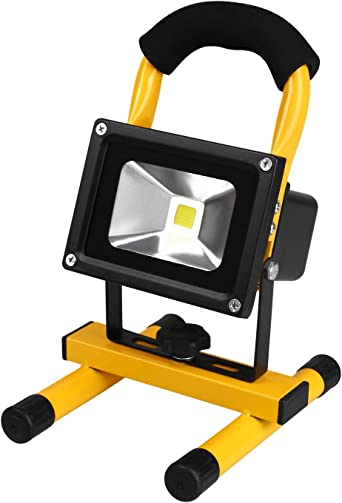 Foco LED Recargable, Portátil Foco Proyector LED Exterior ...