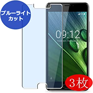 【3 Pack】 Synvy Anti Blue Light Screen Protector for Acer Liquid Z6 Plus Screen Film Protective Protectors [Not Tempered Glass]